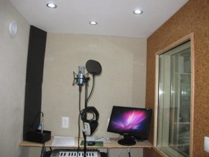 Inside the vocal booth