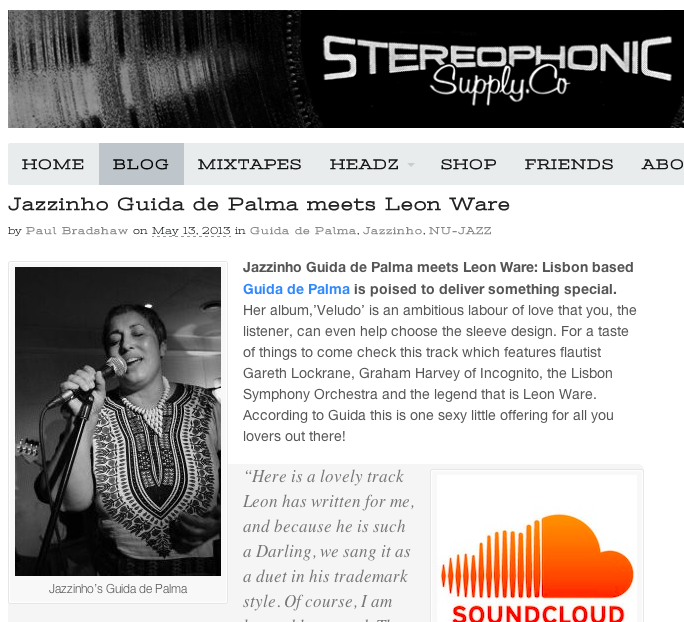 About a seed in you in Stereophonic Supply Co.Duet Guida de Palma Leon Ware