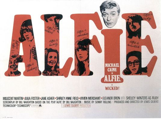 Michael Caine in Alfie - Soundtrack by Burt Bacharach sung by Cilla Black - Recording session.